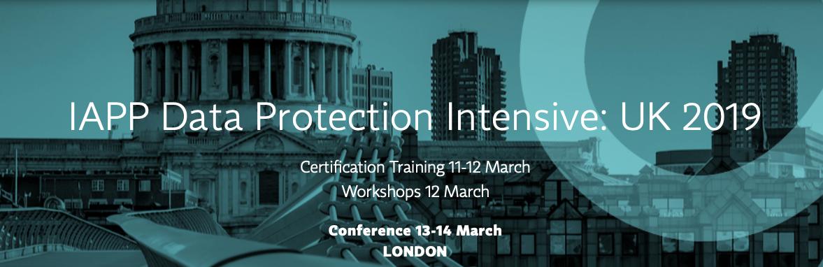 IAPP Data Protection Intensive UK 2019